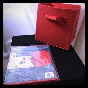 NWOT ClosetMaid Red Fabric Drawer - 4 available